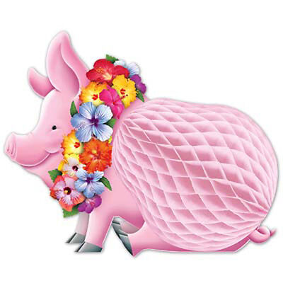 Party Supplies Birthday Pool Beach Luau Tropical Honeycomb Pig Centrepiece