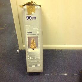 90cm pre lit Christmas tree