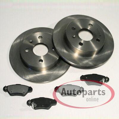 Opel Astra G Bremsscheiben für 5 Loch Bremse Bremsbeläge hinten Hinterachse