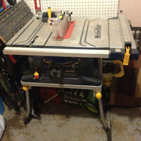 "10"" Mastercraft table saw with sliding table"