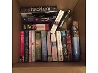 2 boxes of books - mixed variety