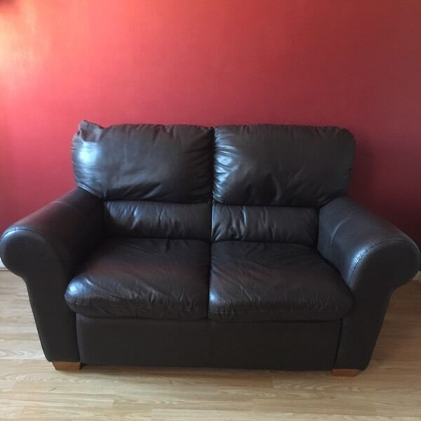 Genuine leather sofa brownin Bournemouth, DorsetGumtree - Genuine brown leather sofa very comfy. 5ft collection only please bh11 £50