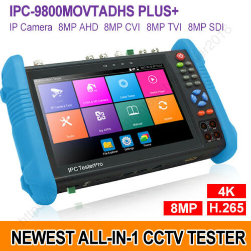 "IPC-9800MOVTADHS+ 7"" CCTV AHD CVI TVI SDI IP Camera Tester 4K H.265 DMM TDR VFL"