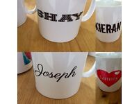 Personalised mugs and gift sets