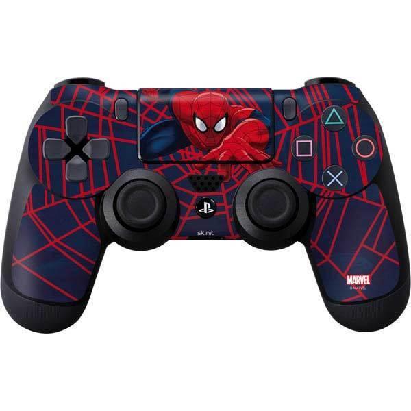 Marvel Spider-Man PS4 Controller Skin - Spider-Man Crawls