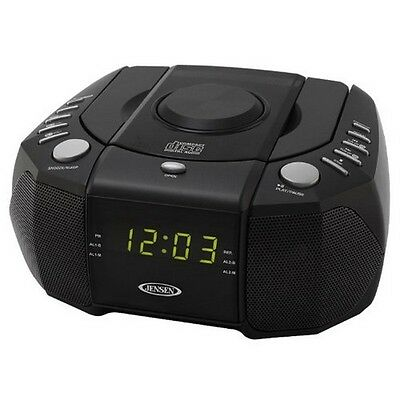 Jensen JCR 310 Dual Alarm Clock Am FM Stereo Radio With Top Loading CD Playerp