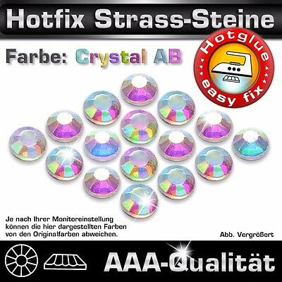 Ss 10 Crystal (500 Hotfix Strass Steine, SS10 Crystal AB, in Top AAA-Qualität)