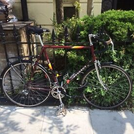 Beautiful Burgundy Vintage Peugeot Carbolite bike All New Parts, Recently Serviced 61 cm Frame