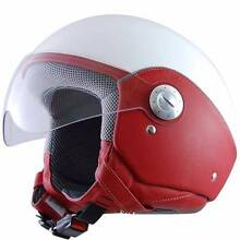 New in Box - Lazer Open Face Scooter Helmet Red/White. RRP$199 South Melbourne Port Phillip Preview