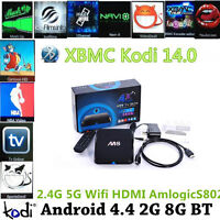 Android Box M8 Quad core- Watch free TV Channels & Movies,Shows