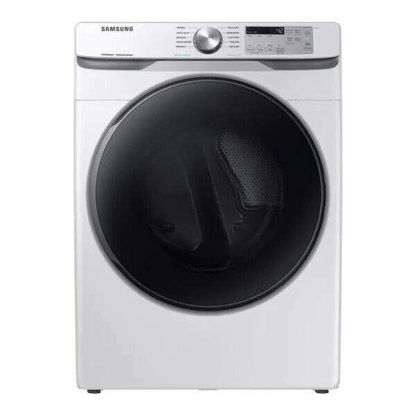 """Samsung DVE45R6100W 27"""" White Front Load Electric Dryer"""