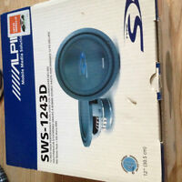NEVER USED OR TAKEN OUT OF BOX -  Alpine 12 inch sub woofer