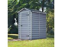 Palram SkyLight Plastic/Resin Shed 6f X 4ft Durable Storage Still In Box. Local Delivery Possible.