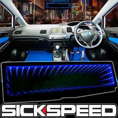SICKSPEED GALAXY MIRROR LED LIGHT CLIP-ON REAR VIEW WINK REARVIEW BLUE P1