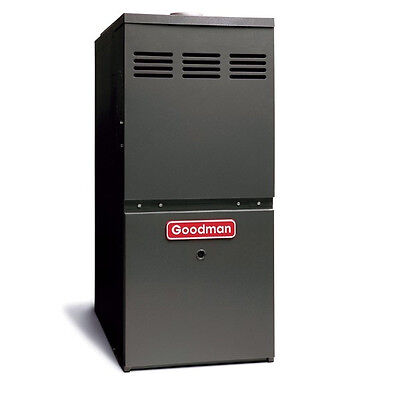 Goodman 3 to 5 Ton 100,000 BTU Gas Furnace Uplow Supine Overflow GMS81005CN