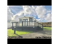 STATIC CARAVAN FOR SALE WITH DECKING & FREE 2017 PITCH FEES NORTH EAST COAST