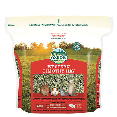 Oxbow Western Timothy Hay Small Pet Food net weight 90 oz