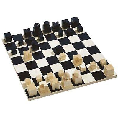 Original BAUHAUS DESIGN Komplett-SET Schachbrett mit Schachfiguren NAEF Spiele !