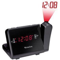 Westclox 80208 Digital LCD Projection Alarm Clock with AM/FM Radio