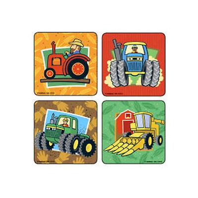 18  Farm Barnyard Fun Tuff Tractor Stickers Party Favors Teacher Supply Rewards - Tractor Favors