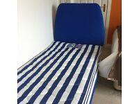 Silentnight full size single bed, mattress & headboard