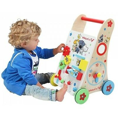 Baby Walker Holz Lauflernwagen  Woezel & Pip  Activity Center  WOEZ 9086