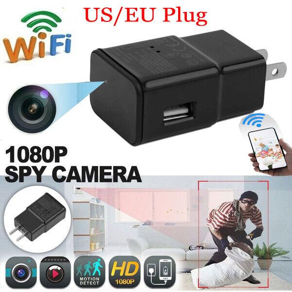 HD 1080P Hidden Mini Camera USB Wall Charger Adapter Video Recorder Security Cam