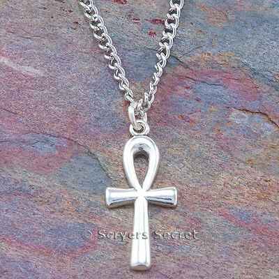 .925 sterling silver ANKH CROSS Charm Egyptian Eternal Life Pendant -