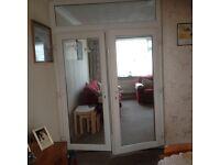 UPVC Patio door and top window