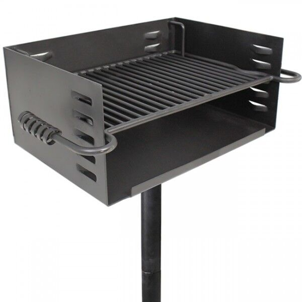 Heavy Duty Park Steel Grill Charcoal BBQ Picnic Camp