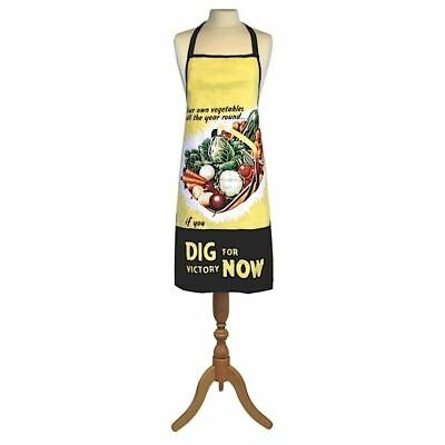 VINTAGE RETRO CLASSIC DIG FOR VICTORY VEGETABLES DESIGN COOKING APRON KITCHEN