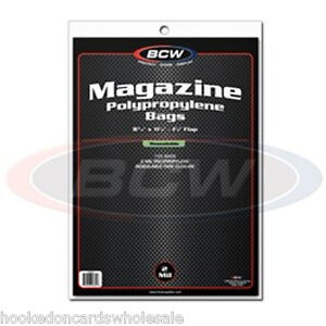 1-Pack-100-BCW-8-3-4-034-x-11-1-8-034-Resealable-Magazine-Storage-Bags-Sleeves
