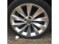 VW scirocco interlago alloy wheels with tyres Passat cc 5112 vag alloys Audi golf seat skoda genuine