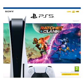 Playstation 5 disc version console and game bundle.