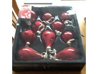 Christmas decorations large bnib red