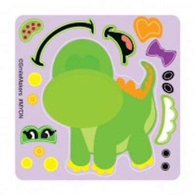 25 Dinosaur Make Your Own Stickers Party Favors Birthday Teacher - Dinosaurs Birthday