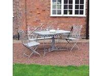 Grey Vintage 4 Piece Garden Patio Conservatory Dining Set (FREE LOCAL DELIVERY)