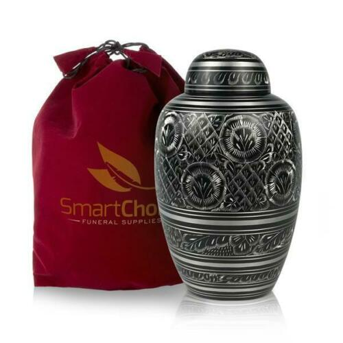 Cremation Urn for Human Ashes Elegant Black and White (Adult)