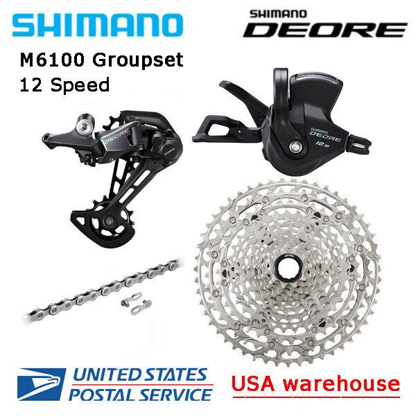 New Shimano Deore M6100 12 Speed Drivetrain Groupset 51T MTB Micro Spline (OE)