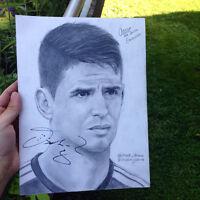 Dessin autographié par un joueur de soccer