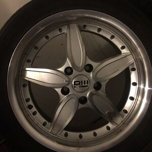 17 inch rims, only used one summer.  235 45 17 tires on rims