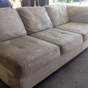 Sectional sofa beige L shape