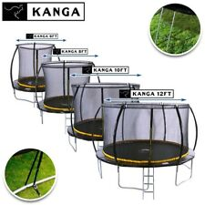 KANGA 6FT / 8FT / 10FT / 12FT Trampolines with Enclosure, Ladder, Anchor Kit