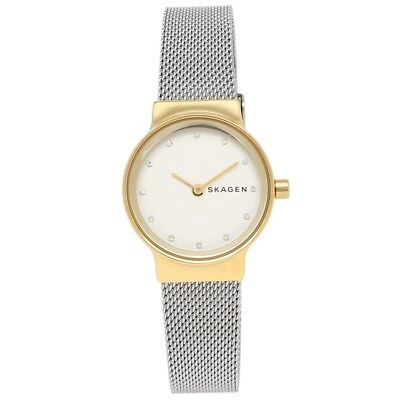 Skagen Women's SKW2666 Freja White Dial Stainless Steel Mesh Bracelet Watch 3018