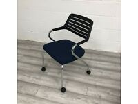 Sedus Mobile Stacking Conference Chair, Black