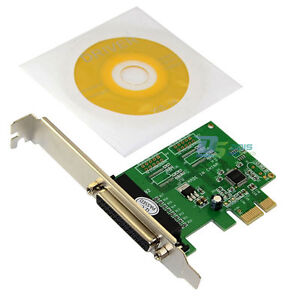 Parallel Printer Port DB25 LPT to PCI-E PCI Express Card Adapter Low Profile New