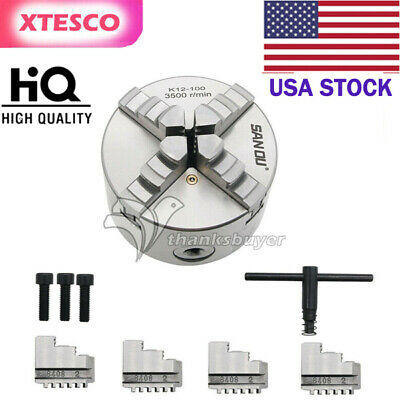 4 Inch 4-jaw Self Centering K12-100 Lathe Chuck 100mm Max Rpm 4200 For Cnc Us
