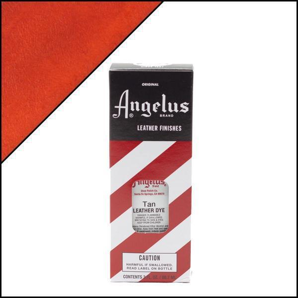 Angelus Leather Dye 3 oz. with Applicator for Shoes Boots Bags TAN Crafts