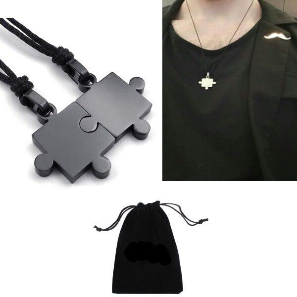 Gift Under 10 Dollars Men 2Pcs Couples Stainless Steel Puzzl