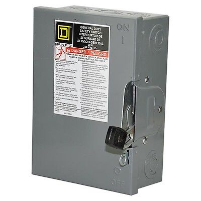 New Du321 Square D 30 Amp 240 Vac 3 Pole 3 Wire Fused Disconnect -mse